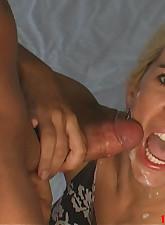Hot blonde facial