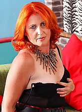 Red mature lady