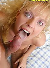 Hot mature sucking