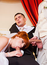 Bride gets threesome