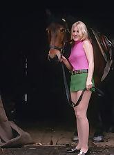 Blonde her horse