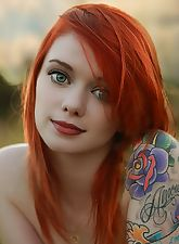 redhead with