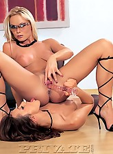 Horny babes playing