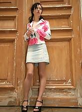 Babe in skirt