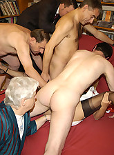 Big orgy in babes