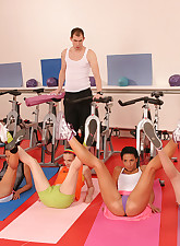 Teen girls gym